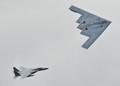 B2 escorted by F-15