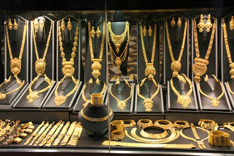 In the Gold Souq in Deira, Dubai