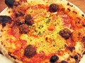 Greasy Cheese and Meatball Pizza