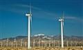 Wind Turbines Farm in California