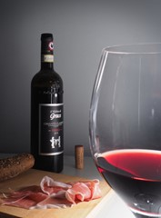 Italian wine and Parma ham