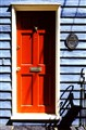 A cool red door