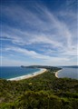Sand spit between Pacific Ocean and Pittwater