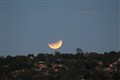 Moon rise over Canberra