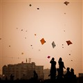 Kite fighting in Ahmedabad