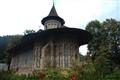 Rainy day at Voroneţ monastery, near Gura Humorului, Suceava county
