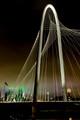 Margaret Hunt Hill Bridge - Foggy Night