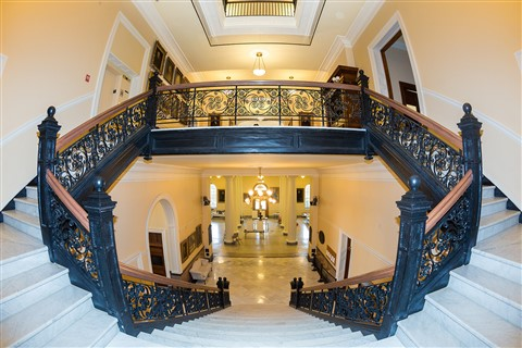 Fisheye View of Stairway in Maine Capitol Building