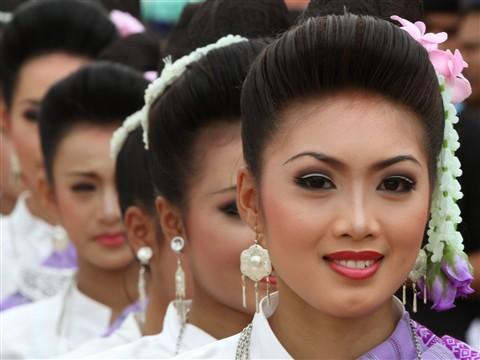 Parade during Phi Tha Khon Festival in Dan Sai, North Thailand