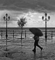 Minori, Amalfi coast, on a wet November day