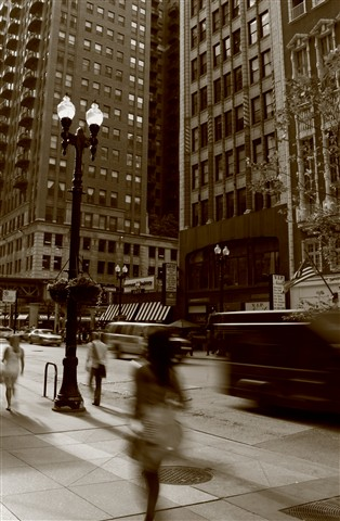 Chicago In Sepia