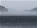 A wall of fog on thin ice