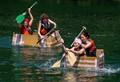 At 2014 Soap Kayak Race held in Imbersago, Northern Italy, on Adda river