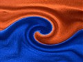 The orange - blue