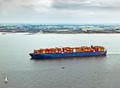 Containership on the Westerschelde, NL