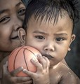 Mother, Child and Ball