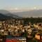 The Sunset Panorama- Kathmandu: Kathmandu Valley with Swayambhunath during sunset.