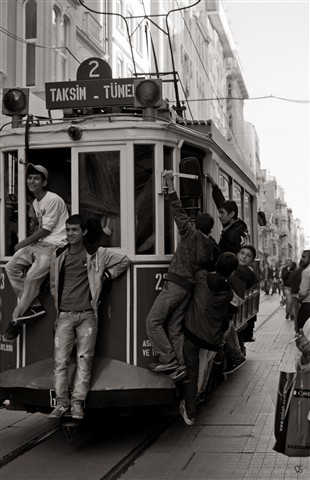 Boys Riding the Tram