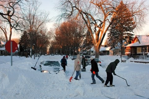 Digging out in Saint Paul, Minnesota