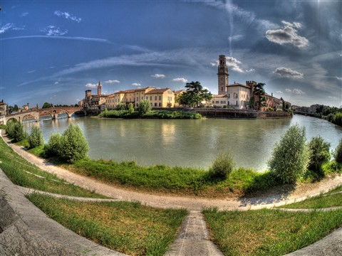 Adige river at Verona