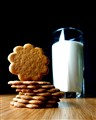 Almond Cinnamon Cookies and Milk