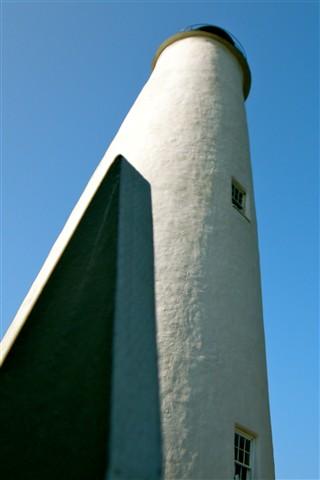 Ocracoke Light & A Fence Post