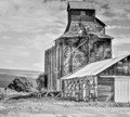 An old Grainery still stands in the Palouse area of eastern Washington