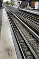 Paris subway rail tracks