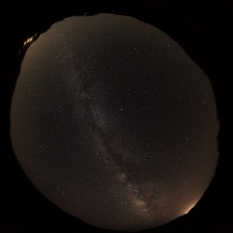 A dark cretian sky with minor light pollution