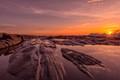 Dyer Point Sunrise on the Rocks