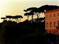 Sunset in Villa Borghese in Rome