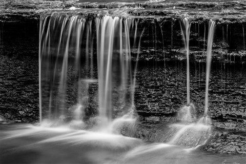 Water Fall Long Exposure B&W
