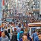 Istiklal Street: The famous crowded walking street in Istanbul with clubs, restaurants, shops and galleries.