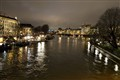 La Seine in a cold winter night