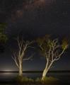 Night panorama at Lake Elphinstone