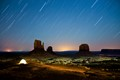 Mysterious night in Monument Valley