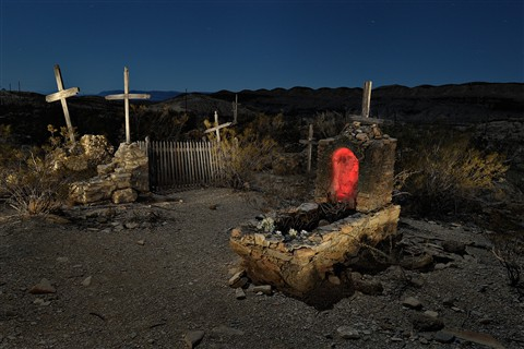 A night in Terlingua Cemetery