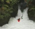 Kayaking Tutea Falls