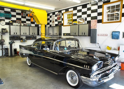 1957 Chev garaged