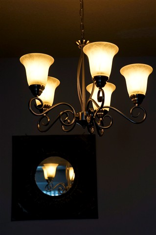 A Simple Five Light Chandelier...