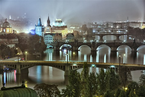 Misty Prague night