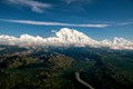 aerial view of alaska's mt denali on clear summer afternoon