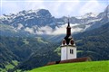 Steeple in the Swiss Alps