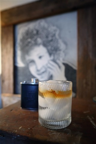 Bourbon on Water with a Bob Dylan Back