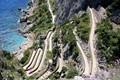 Island of Capri, a path to the sea.