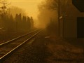 Foggy Sunrise down the tracks
