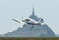 Taking off at Avranches airport