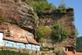 Alsace - little houses built in the rocks