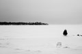 Sit down on the frozen lake