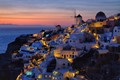 Oia after the sunset on Santorini